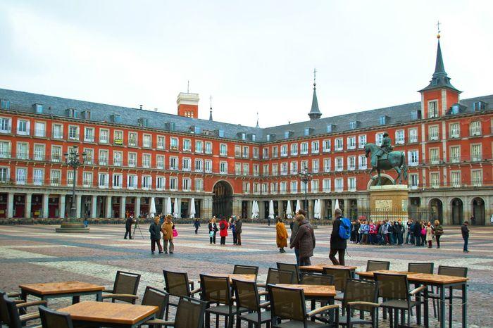 Madrid SPAIN Street Photography Plaza Mayor Old Arhitecture Geometric Shapes Urban Geometry Plaza