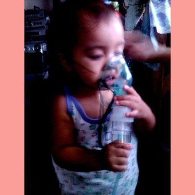 Ang baby namun na hapo. :-(