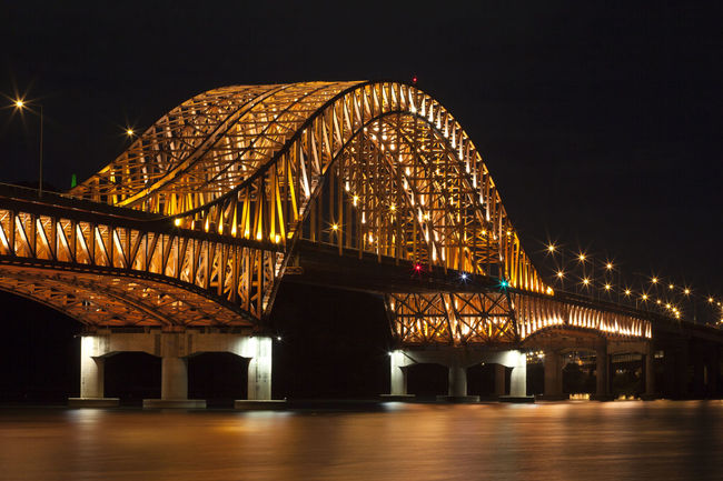 Architecture Banghwadaegyo Bridge Bridge - Man Made Structure Built Structure Capital Cities  City City Life Connection Engineering Famous Place Han River Hangang Park Illuminated International Landmark Low Angle View Modern Night Outdoors River Sky Tourism Travel Destinations Water Waterfront
