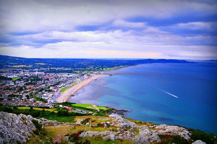Bray, Ireland Ireland🍀 Sky Clouds Sea View Mountain View