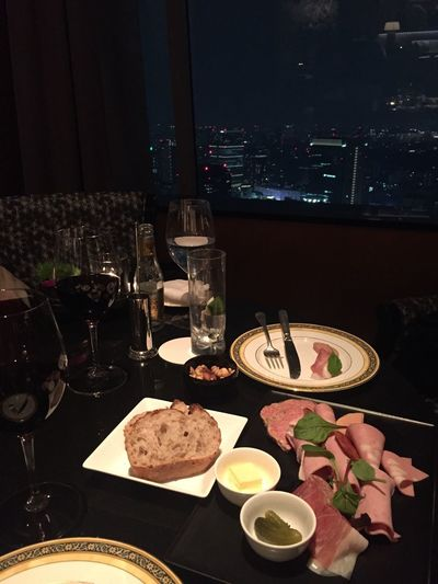 Food And Drink Wine Night Plate Tokyo Hotel Urban