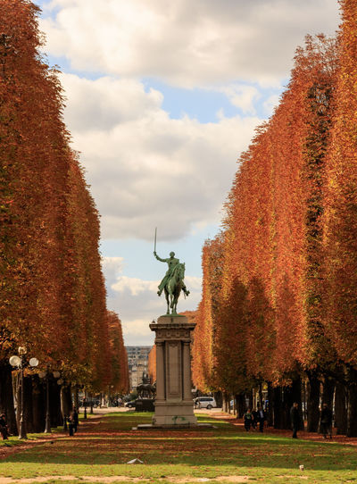 If Trees Could Speak Iftreescouldspeak Fall Colors France Paris Paris ❤ Paris, France  Architecture Autumn Change Cloud - Sky Day Grass History Human Representation Monument Nature No People Outdoors Parisian Park - Man Made Space Sculpture Sky Statue Tourism Travel Destinations Tree