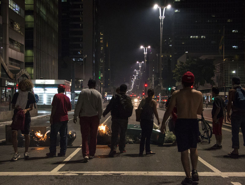 They say it's not a coup because there are not tanks on the streets (or) There's a corrupt, illegitimate acting president running our country, and we can't protest no more. Brazil Coup D'Etat Coup D'etat Demonstration Fora Temer Police Protesters Tear Gas Violence Violent Police Where's Democracy?