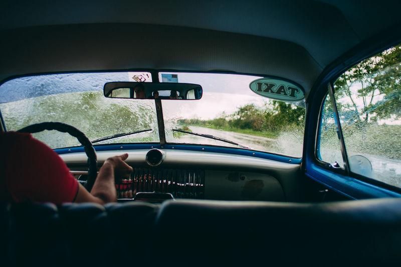Cuba Rain Taxi The Traveler - 2018 EyeEm Awards Travel Photography Viñales Fujifilm Fujifilm_xseries Hurricane Travel Destinations Xf18mm Xpro1 EyeEmNewHere Summer Road Tripping
