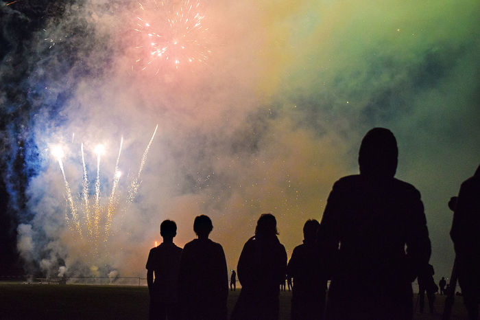 Silhouette Night People Outdoors Sky View Colours Scenics The Great Outdoors - 2017 EyeEm Awards Eyeem Photography Fireworks Firework Fireworksphotography Rocket Kielerwoche Kieler Woche WOW Loud Beautiful Event Event Photography High Visitor Party Fireworks In The Sky