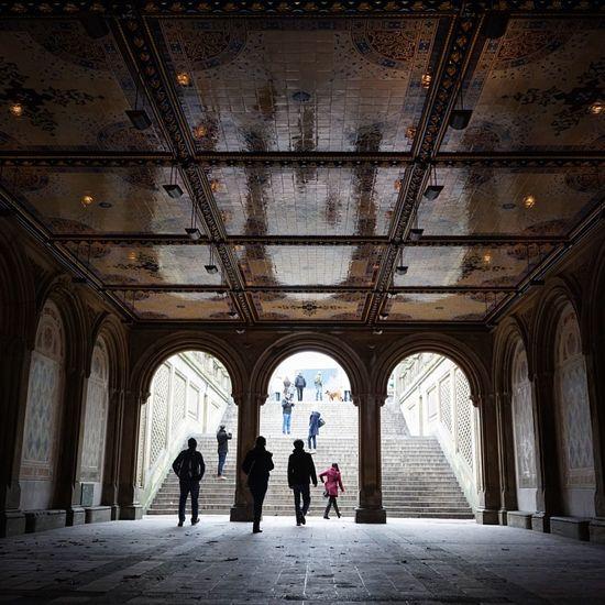 Bethesda Terrace Bethesda Arcade Bethesda New York Newyorkcity Showcase: January Light And Shadow
