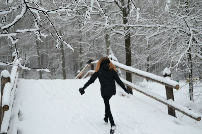 Russia Winter 2016♡ Girl In Forest No Filter, No Edit, Just Photography I Love It