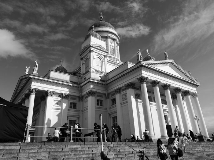 Architecture Building Exterior Tourism History Travel Sky Helsinki Finnland Cathedral