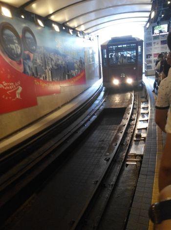 Century old peak tram of Hong Kong Hello World