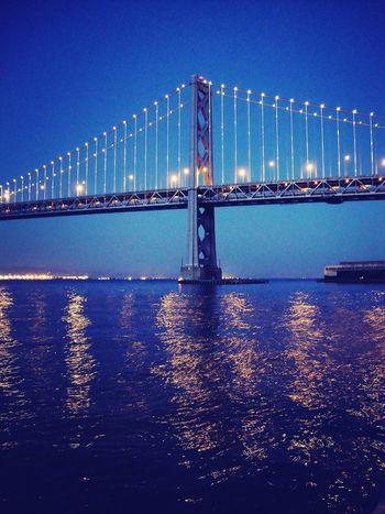 San Francisco Oakland Bay Bridge Blue Hour