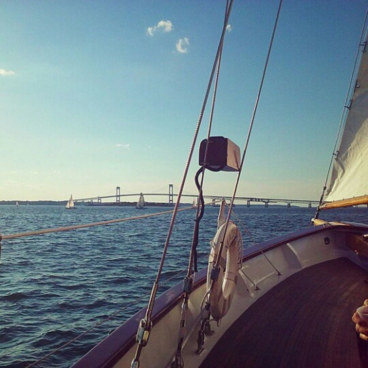 sea, transportation, nautical vessel, mode of transport, water, sky, no people, sailing, sailboat, outdoors, nature, day, yacht, mast
