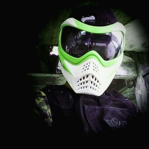 White Power Ranger ahahahahPaintball VForce MyMask That's Me