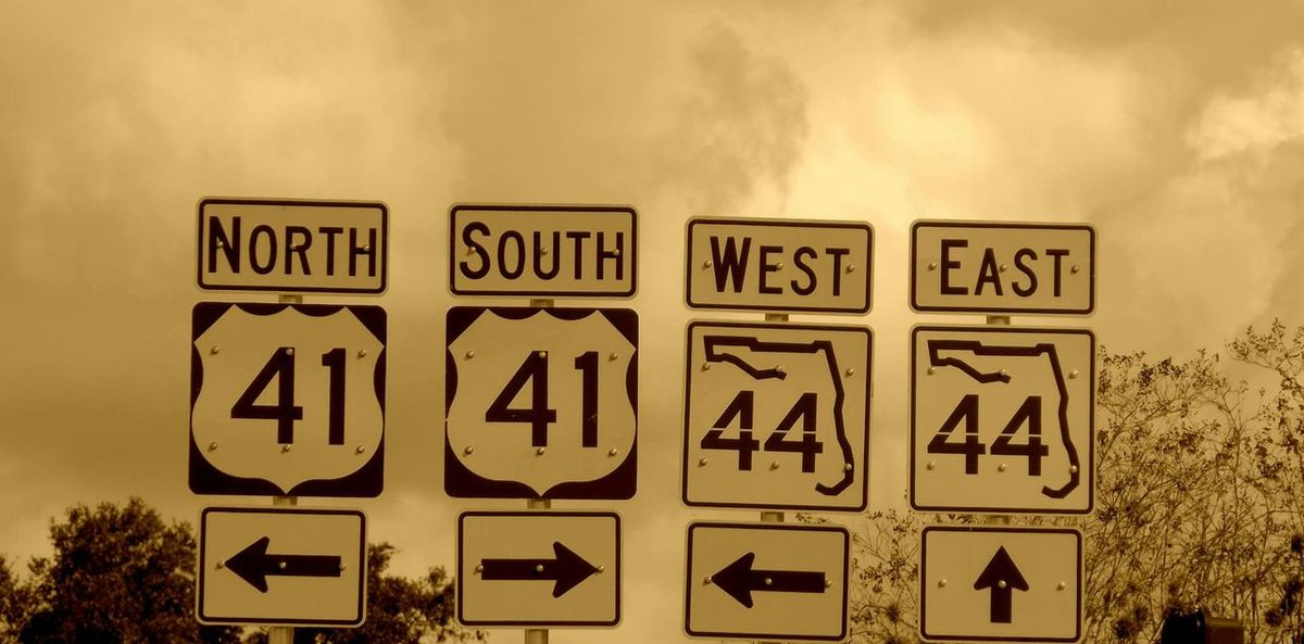 Road Signs In Citrus County Florida Enjoying Life Onthe Road