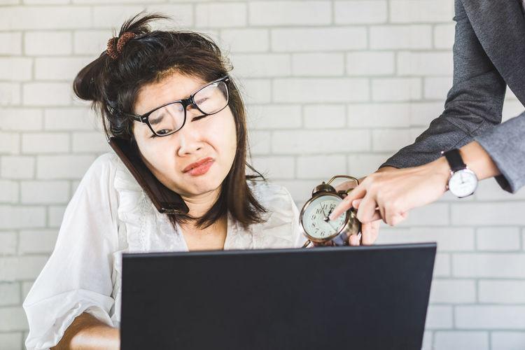 stressed female