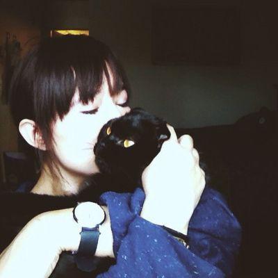 Happy 2nd birthday to my little grumpy love Mave 😽🎈 365grateful Catstagram