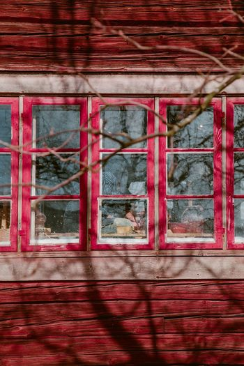 Christmas Day Red Composition Light And Shadow Light Red Architecture Building Exterior Window Built Structure No People Building Wall - Building Feature Wood - Material Wall Outdoors Nature