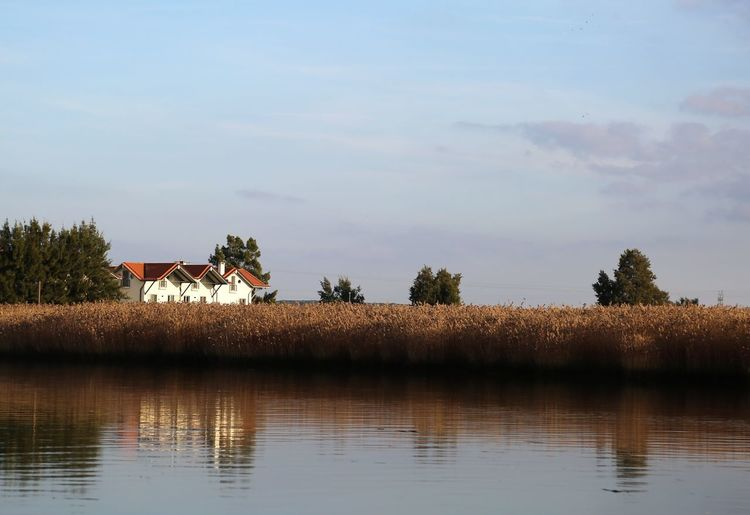 The Farmhouse Tree Plant Water Waterfront Sky Reflection Nature