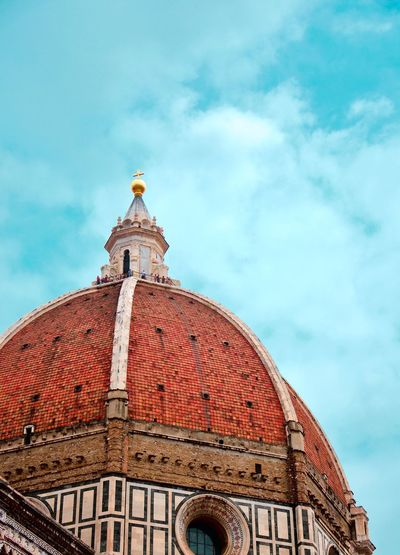 Brunelleschi's dome Architecture Sky Built Structure Building Exterior Cloud - Sky Low Angle View Place Of Worship Religion Dome Belief Building Travel Destinations No People Spirituality Day Travel History Nature The Past Outdoors