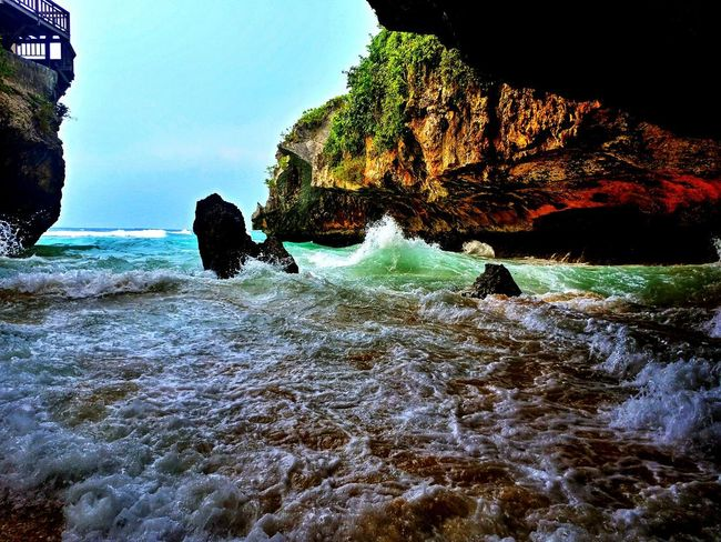 Beach Clouds And Sky Sky And Clouds Beautiful Nature Beautiful Day Bali, Indonesia Uluwatu Water Sea Nature Rock - Object Underwater Beauty In Nature Silhouette