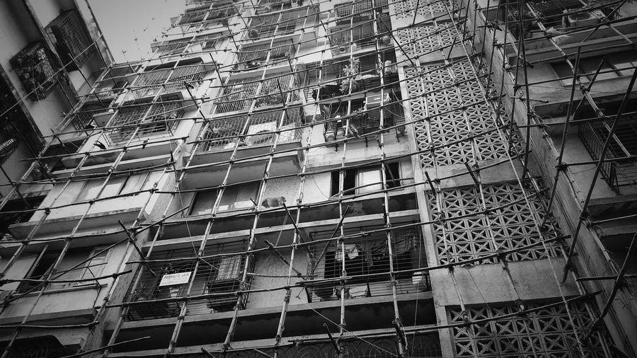 Shades Of Grey Building Reconstruction India Bamboo&ropes Mumbai