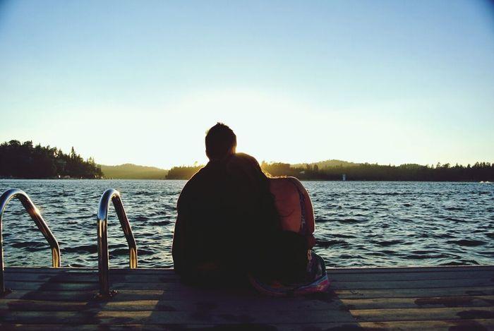Lake Love Summer Sunset