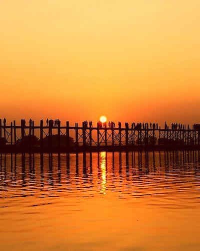 Myanmar Burma Mandalay Ubeinbridge Ubein Bridge Sunset Sunset_collection Sunset Silhouettes