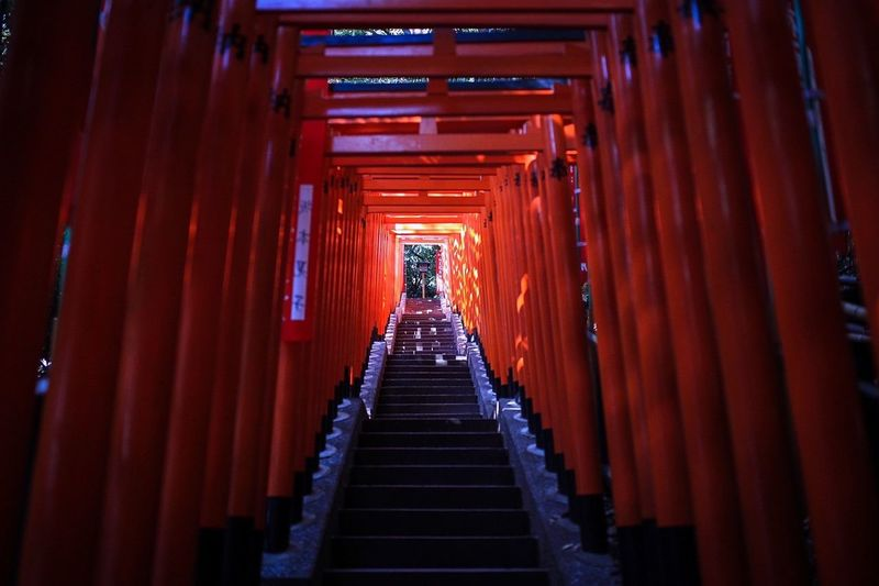 Torii Gates At Hie Shrine