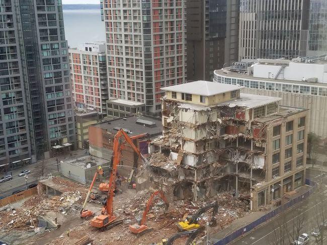 Building Exterior Cityscape Built Structure Skyscraper Downtown District Development Demolished Structure Demolished Building
