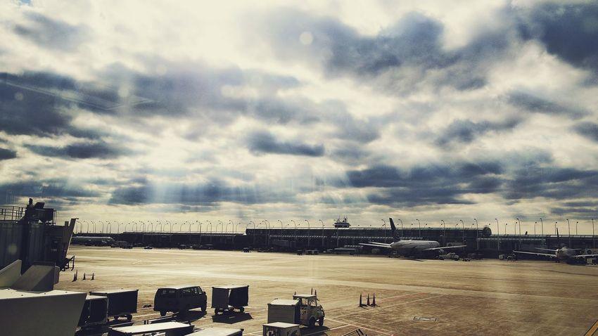 Sunlight Through Clouds Sky Lax Airport L.A