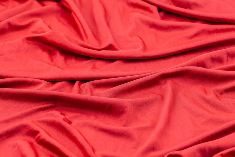 Backgrounds Bed Close-up Crumpled Duvet Folded Full Frame Indoors  Linen Luxury Material No People Pattern Red Rippled Satin Sheet Softness Textile Textured  Wrinkled