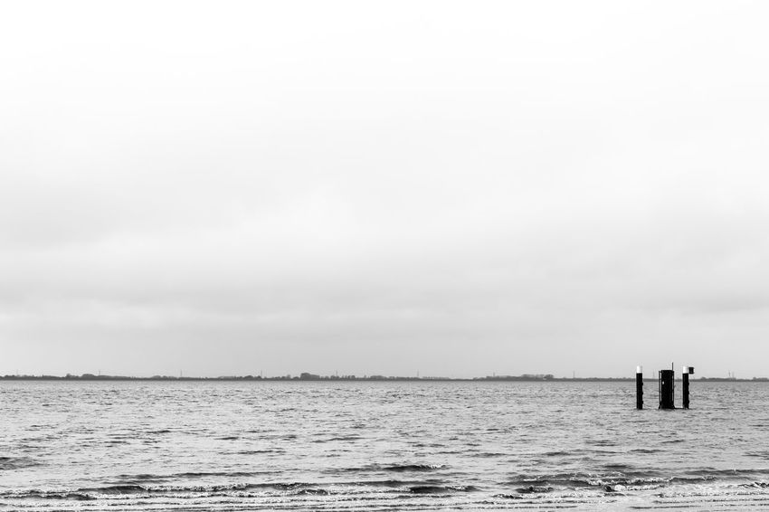 Winter Beauty In Nature Blackandwhite Day Horizon Over Water Minimalism Nature No People Ocean Outdoors Scenics Sea Sea And Sky Tranquil Scene Tranquility Water Wind
