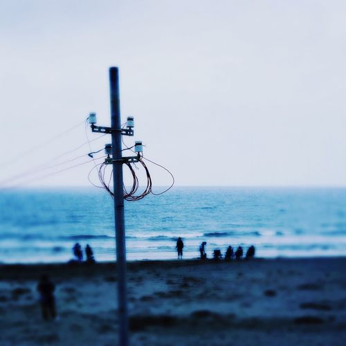 Beach Photography Electric Wire