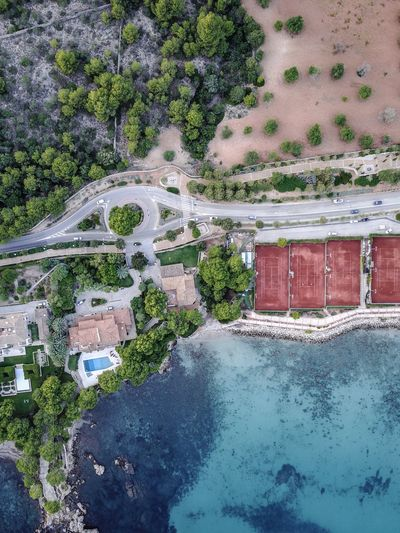 Drone  Mallorca SPAIN Architecture Beauty In Nature Building Exterior Built Structure Day High Angle View Nature No People Outdoors Scenics Sky Spa Tree Water