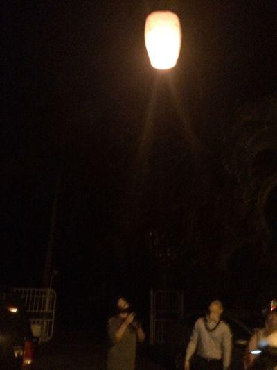 Happy New Year Sky Lanters Celebration Puerto Rico