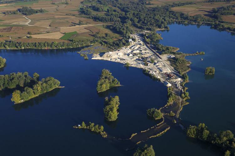 Aerial view of soderica lake, croatia