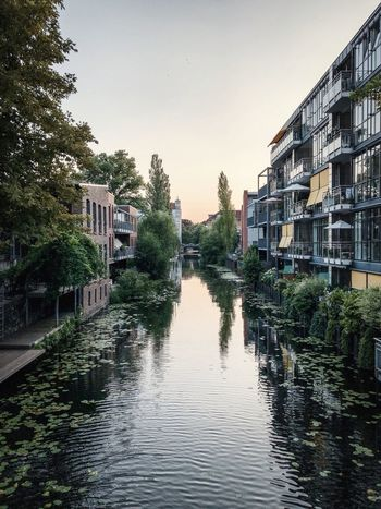 Water Architecture Built Structure Sky Building Exterior Plant Nature Clear Sky Day Outdoors Residential District No People Tree Building Reflection Waterfront City Canal