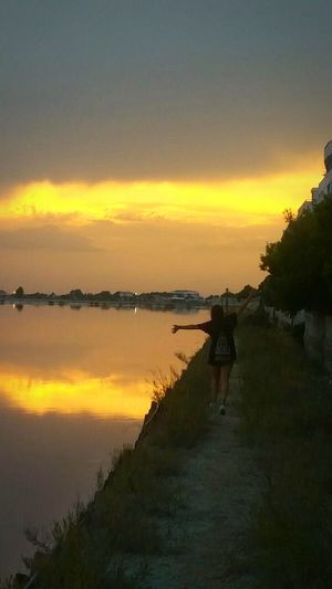 Sunset Beauty In Nature Travel Tranquility Outdoors Water Nature Landscape Hakuna Matata Senzapensieri Happy Time Overview Overmind Touch The Sky Margheitadisavoia Puglia