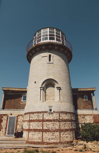 Architecture Beachy Head Beachyhead Blue Building Exterior Built Structure Day Exterior Façade Holiday Lighthouse Low Angle View Modern No People Outdoors Sky Summer Tall Tall - High Tower Travel