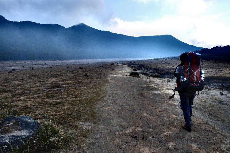 when life getting complicated I walk EyeEmNewHerе Adventure Backpack Beauty In Nature Gedepangrango Hiking Mountain Nature Outdoors Travel Walking
