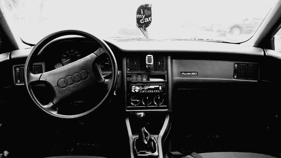 AUDI <3 First Eyeem Photo Audi Audi ♡ Car Audi B4 2.3E Interior Shades Of Grey Black And White Black & White Taking Photos