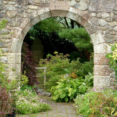 Arch Built Structure Plant Architecture Stone Material Archway Stone Wall Growth Tranquility Footpath Tranquil Scene Formal Garden Nature Entrance Day Non-urban Scene Arch Bridge Scenics Outdoors Beauty In Nature Hand-built Stonework Handcarved Ornamental Garden