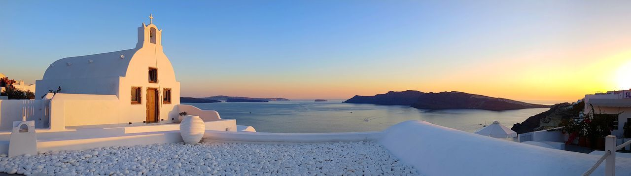 Sunset Beach Sea Sky No People Tranquility Water Outdoors Travel Destinations Clear Sky Sand Scenics Nature Day Beauty In Nature Santorini, Greece Oia Santorini