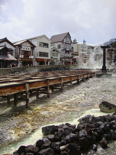 a hot spring in
