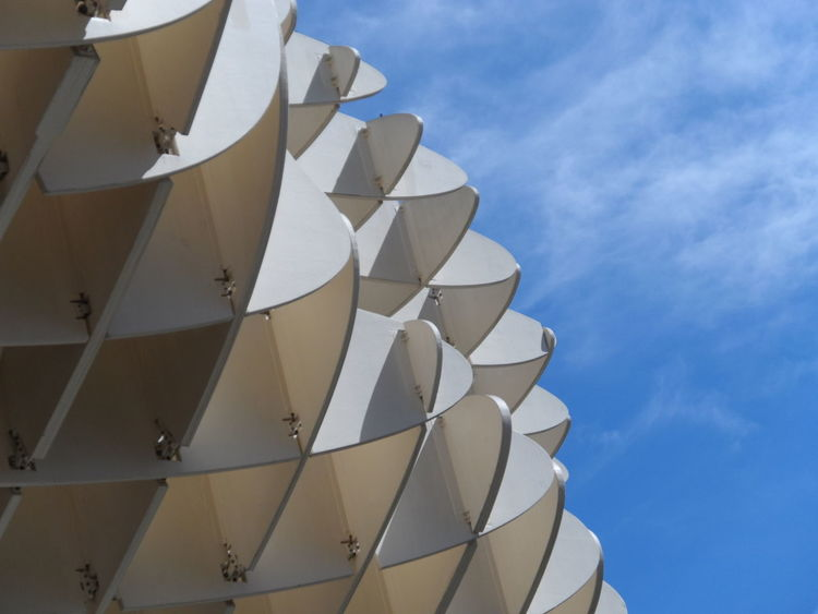 Metropol parasol, detail Andalucía Architecture Built Structure Close-up Detail Feria De Abril Low Angle View Metropol Parasol Sevilla Seville Sky SPAIN Structure View