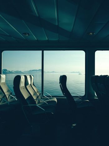 Minimalism Minimal Norway Ferryboat Ferry Transportation Mode Of Transportation Silhouette Window Indoors  Real People Travel Glass - Material Public Transportation Lifestyles Transparent