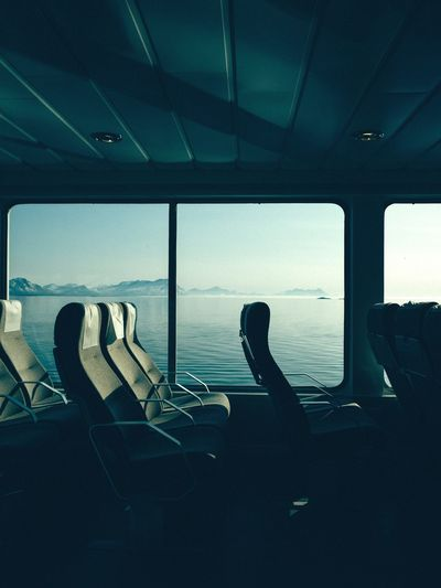 Empty Seats In Ship Over Sea
