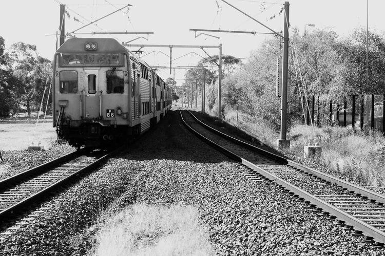 train descending towards black and white #punchbowlrail#trackwork #publictransport Rail Transportation Track Mode Of Transportation Train