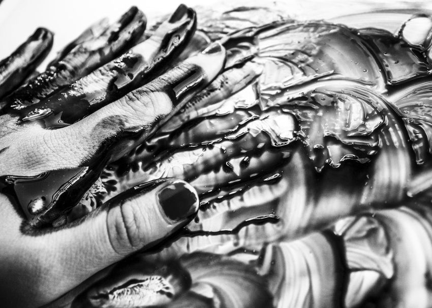 Black And White Childhood Close Up Crafts Crafty Creative Creativity Finger Painting Hand Making Art Messy Motion Movement Painting Texture Welcome To Black