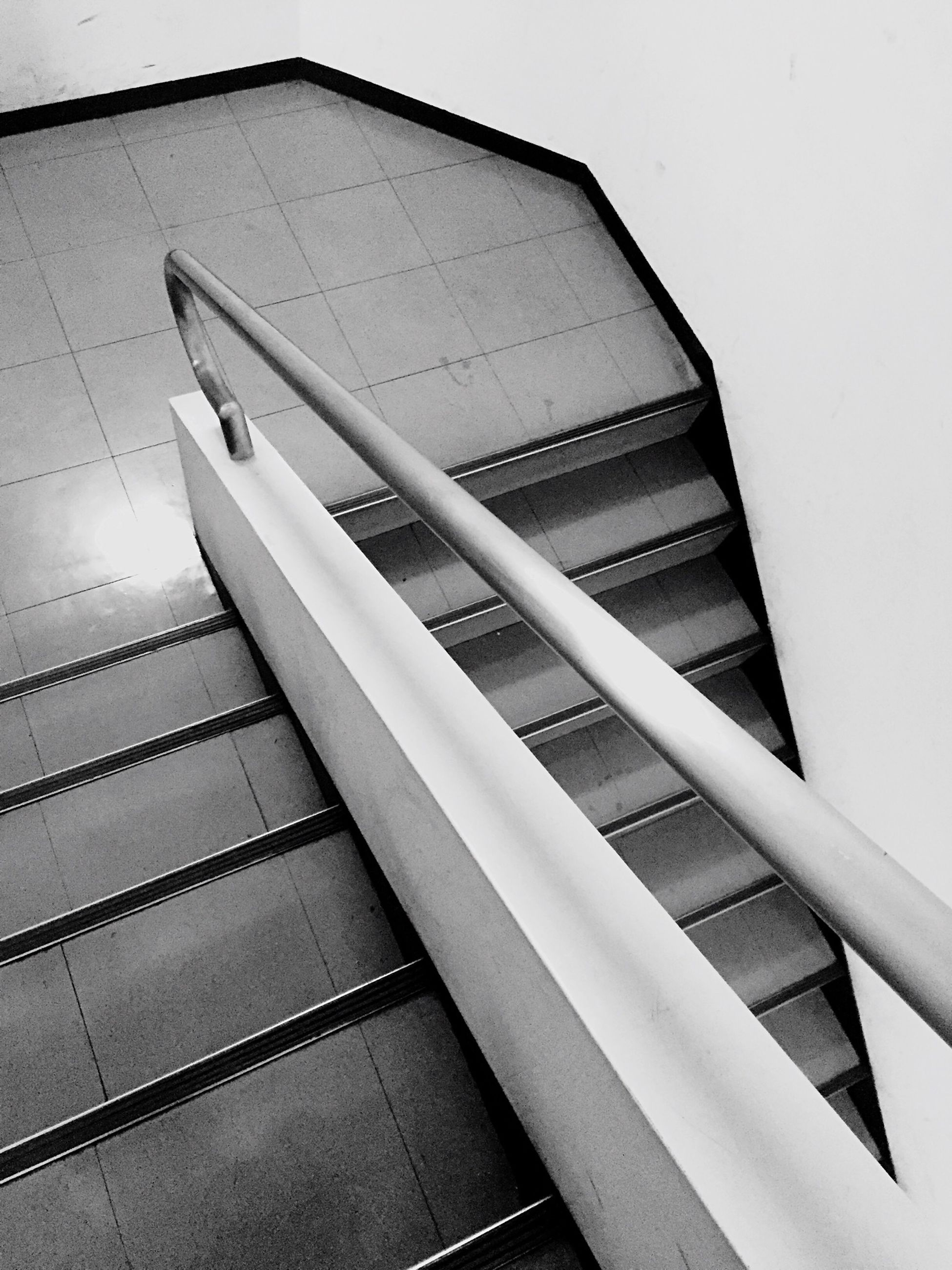 architecture, built structure, low angle view, modern, building exterior, steps and staircases, steps, staircase, building, indoors, high angle view, railing, part of, no people, office building, directly below, city, cropped, white color, skyscraper