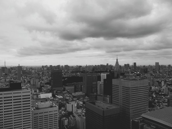 Tokyo Japan Black & White Cityscape Skyscrapers Modern Night Outdoors Shade Sky Cloud Urban Still Building Monochrome Reflection Outdoor Past View Horizon Cult Kids Melancholy Skyscraper Cityscape